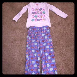 Pajama top and bottom set toddler girl 4/5 XS